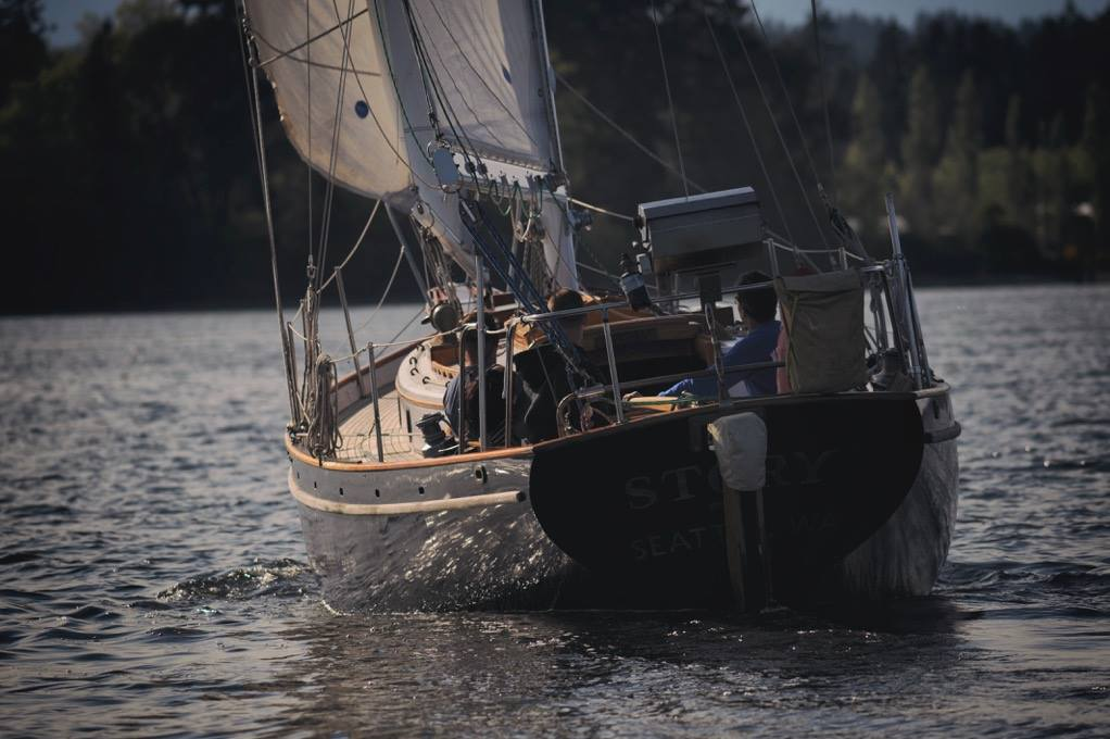 Cape George 36 gallery image with filename: capegeorge36-story-undersail-stern.jpg