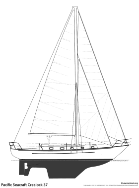 Pacific Seacraft Crealock 37 sailboat thumbnail